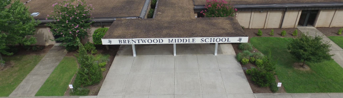 Aerial view Brentwood Middle School
