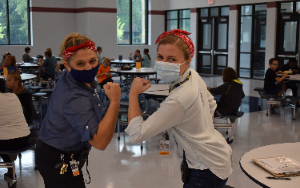 Dr Justice and Mrs. Carter as Rosie the Riveter