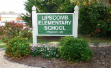 The Lipscomb school sign welcomes students