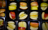 small trays with fruit