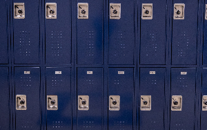 Image of school lockers