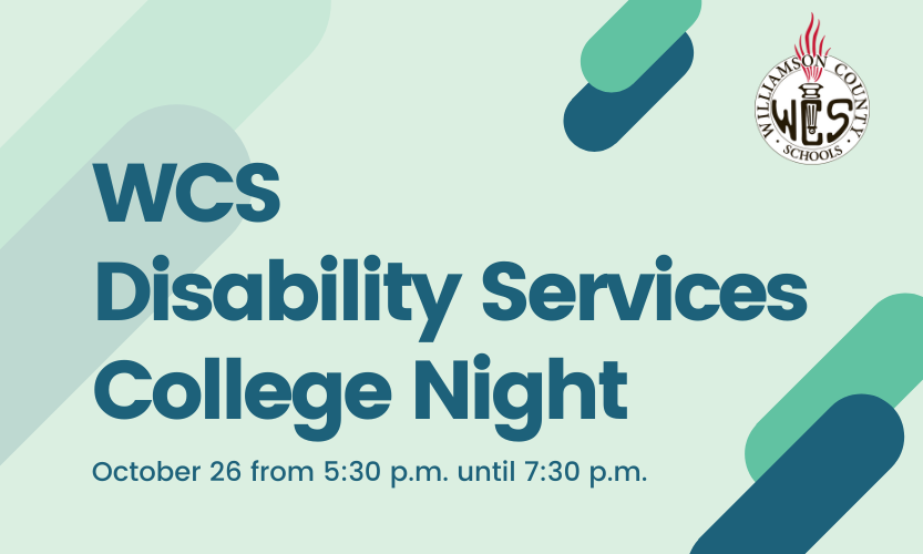 WCS Disability Services College Night